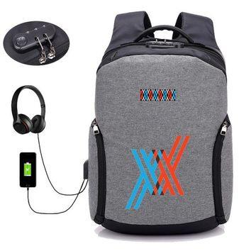 Anime Backpack School kawaii cute DARLING in the FRANXX backpack USB charging Backpack student book bag School Bag Mochila men travelling Bags 14 style AT_60_4