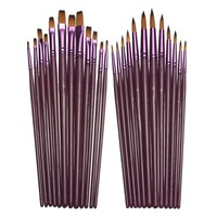 12pcs/Watercolor Acrylic Oil Painting Brushes Drawing Art Supplie