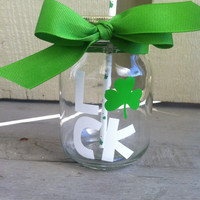 St. Patrick's Day Personalized Mason Jar Cup w/ Straw