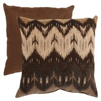 Ikat Chevron Pillow Collection - Chocolate