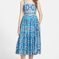 Taylor Dresses Print Cotton Voile Midi Dress
