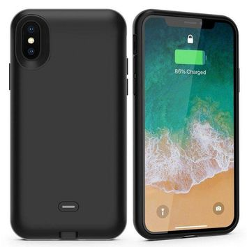 DCCKNY1 iPhone X Battery Case with Qi Wireless Charging,Support Lightning Headphone and Data Syncing,ALCLAP 3000mAh iPhone X wireless charging battery cover (5.8 inch) Portable Charger Case for iPhone X/10