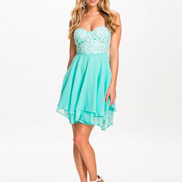 Lace Bandeau Dress, Te Amo