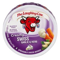The Laughing Cow Spreadable Cheese Wedges Creamy Swiss Garlic & Herb - 8 CT - Walmart.com