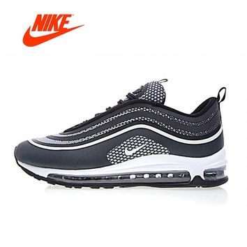 Original New Arrival Authentic Nike Max 97 UL '17 Black/Pure/White Men's Running Shoes Sport Outdoor Sneakers Gym Low 918356-001