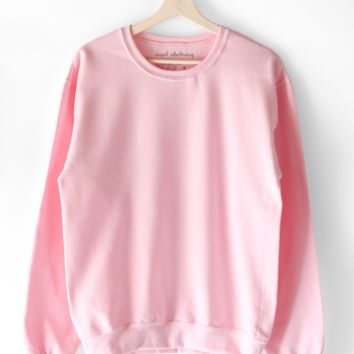 Basic Sweatshirt - Light Pink
