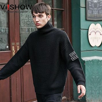 VIISHOW Turtleneck Sweater Man New Mens Knitting Sweaters And Pullovers Masculino Pull Sueter Hombre Mens Jumpers Brand Sweaters