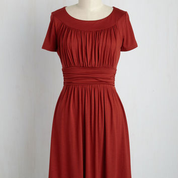 Style Obsession Jersey Dress in Paprika | Mod Retro Vintage Dresses | ModCloth.com
