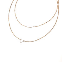 Serena Gold Double Layering Necklace