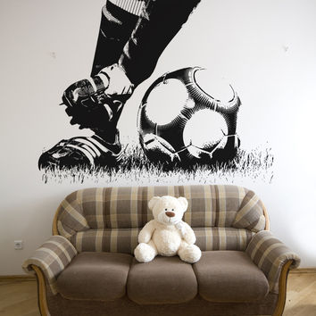 Vinyl Wall Decal Sticker Soccer Feet #5074