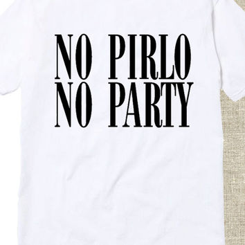 Andrea Pirlo no pirlo no party tshirt for mens and womens