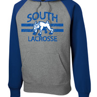 Williamsville South HS Mens Lacrosse Sport-Tek® Raglan Colorblock Pullover Hooded Sweatshirt