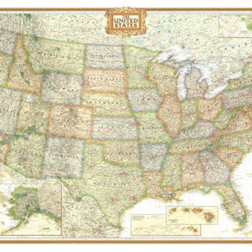 National Geographic United States Political Map, Executive Style Giant Poster Prints at AllPosters.com