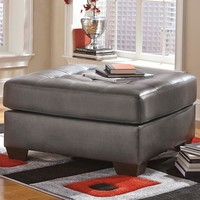 Signature Design by Ashley Alliston Oversized Accent Ottoman in Gray DuraBlend