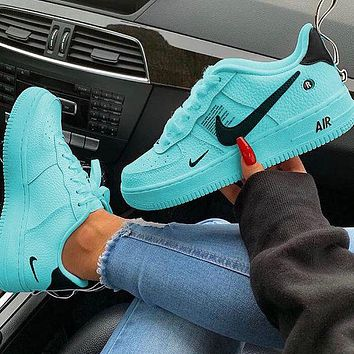 NIKE AIR FORCE 1 DUMR Couple fashion shoes lake blue