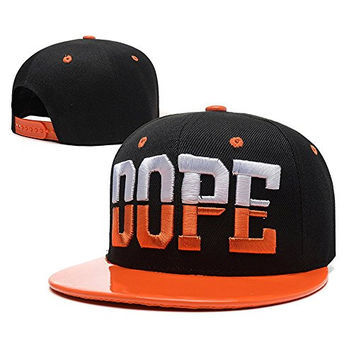 Mouturala-TY Unisex Adjustable Fashion Leisure Baseball Hat DOPE Snapback Dual Colour Cap