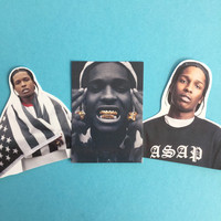 Asap Rocky sticker Set