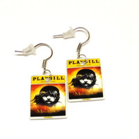 Les Miserables Playbill Earrings