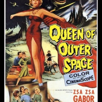 Fridge Magnet vintage image of Sci-Fi B movie Queen of Outer Space Zsa Zsa Gabor alien horror Venus