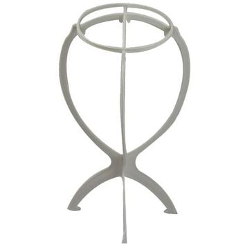 Plastic Folding Stable Durable Wig Hair Head Hat Cap Display Holder Stand Tool Hair Accessories White