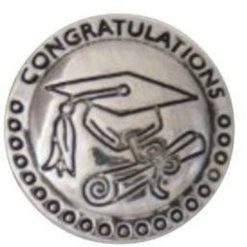 Chunk Snap Charm Metal Chunk Graduation Cap and Diploma 20mm