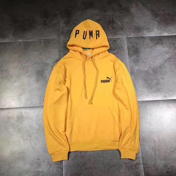 Puma men fleece hooded hood hooded sweater
