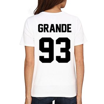 Trendy GRANDE 93 Women Men T Shirt Awmblr Ootd Ariana Truly 1993 Shirt Casual Funny T-shirt for Lady Top Tee Plus Size Tops
