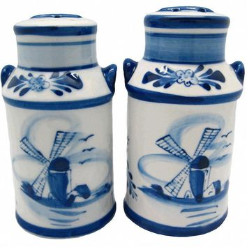 Salt and Pepper Sets: Delft Milk Cans