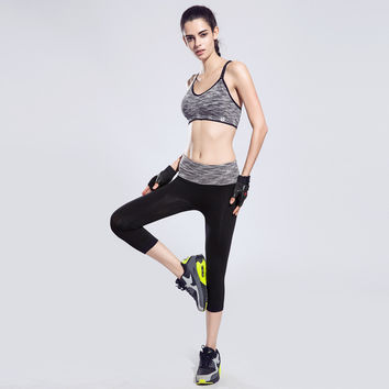 Ladies Stylish Yoga Capri Sportswear Gym Quick Dry Pants Skinny Pants [4915719044]