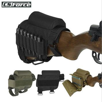CS Force Hunting Gun Cartridge Holder 7 Rounds Airsoft Bandolier Ammo Shells Holder Military Tactical Bullet Carrier Holster