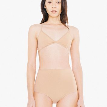 Cotton Spandex Jersey High-Waist Boyshort Brief | American Apparel