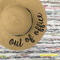 """Out of Office""Floppy Beach Hat"
