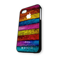 Wood Colorful Vintage iPhone 5C Case