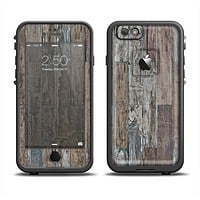 The Straight Aged Wood Planks Apple iPhone 6 LifeProof Fre Case Skin Set