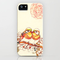 Lovebirds iPhone Case by Natsuki Otani | Society6