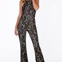 Love Is Lace Flared Jumpsuit