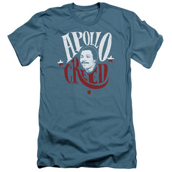 Rocky Apollo Creed Sign Vintage Style Adult Tee Shirt