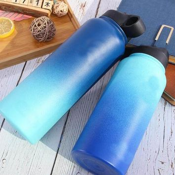 Flask Double Walled Vacuum Insulated Stainless Steel Water Bottle