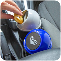 vanzlife car trash rubbish can automotive vehicle garbage dust holder interior litter container round waiste bin