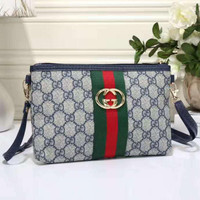 GUCCI Women Shopping Leather Satchel Crossbody Satchel Shoulder Bag H-LLBPFSH