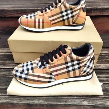 Burberry Vintage Check Cotton Sneakers #441