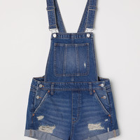 H&M Denim Bib Overall Shorts $39.99