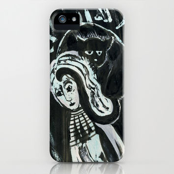 cat woman iPhone & iPod Case by Marianna Tankelevich