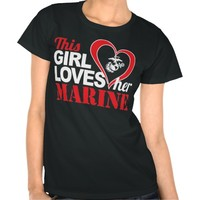 This Girl Loves Her Marine Patriotic T-Shirt