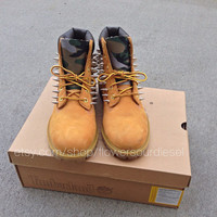 Camo Spiked Timberland Boots