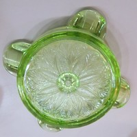Green Glass Ash Tray Green Depression Glass Ash Tray Art Glass Smokers Gift Idea Smoking Lounge Decor cigarette ash tray green Depression