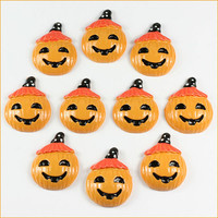 Lot 10pcs Pumpkin for Halloween Party Cabochons by ResinFlatback