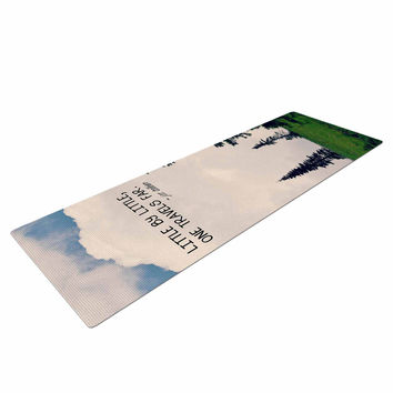 "Robin Dickinson ""Little By Little"" Clouds Typography Yoga Mat"