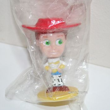 """Licensed cool NEW Disney Pixar 3"""" Toy Story COWGIRL JESSIE bobble head toy KELLOGGS Cereal"""