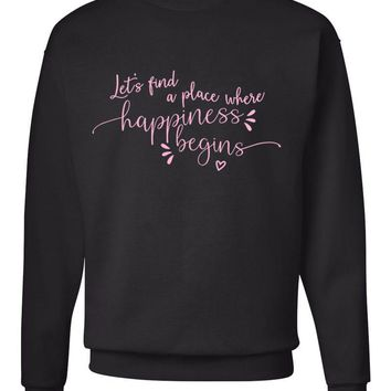 "Jonas Brothers ""Let's find a place where Happiness Begins"" Crew Neck Sweatshirt"